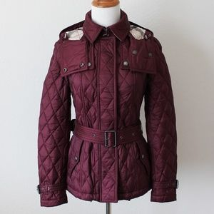 Burberry Finsbridge Quilted Belted Coat Jacket XS